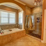 arched recessed cornice with tub
