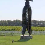 corkscrew sculptures at winery