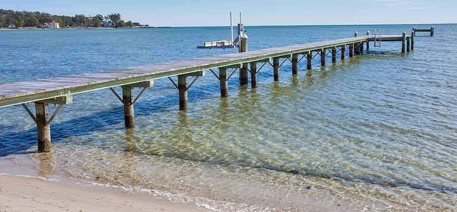 monolith pier with swim platform