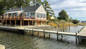 Waterfront restaurant and dock