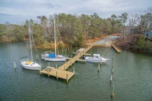 Community pier and boat ramp