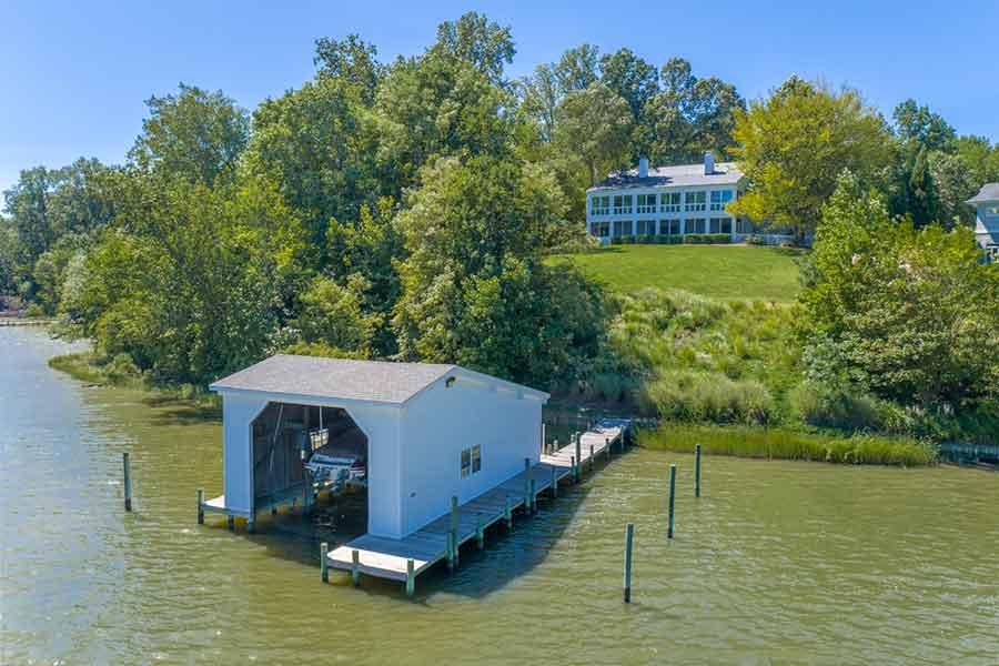 boat house on Urbanna Creek