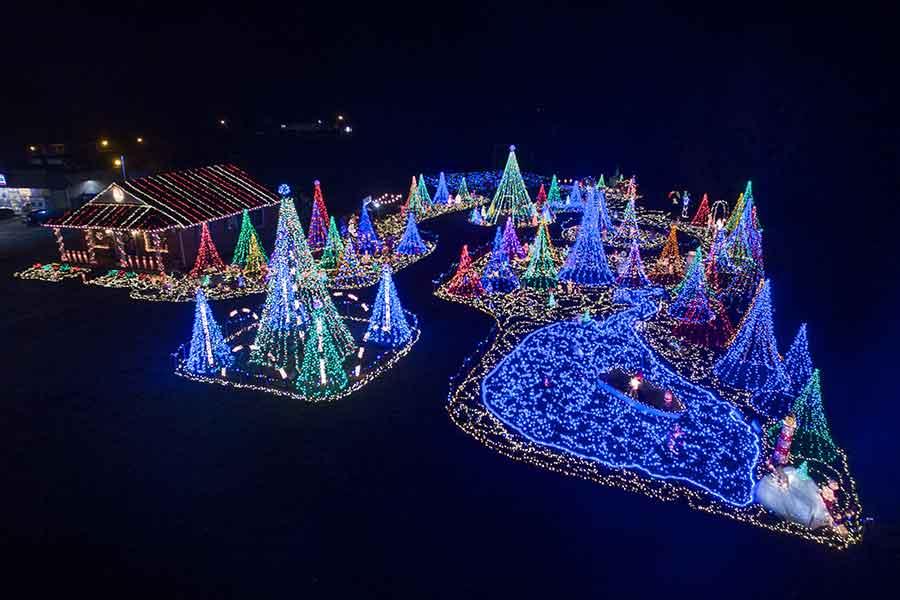 Holiday Lights in Deltaville