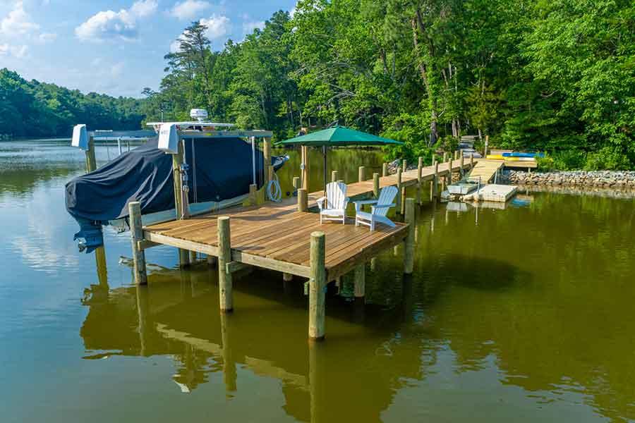 New pier on Wilton Creek