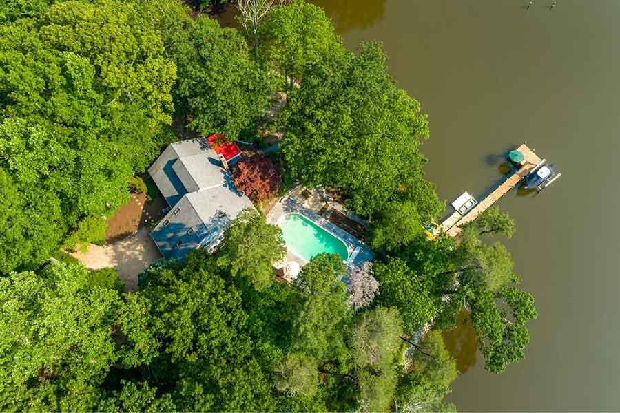 Wilton Creek home with pool